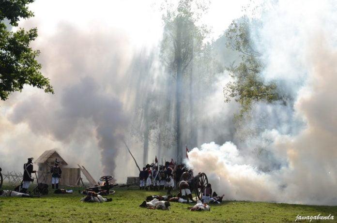 strzały z armat,rekonstrukcja bitwyitwy