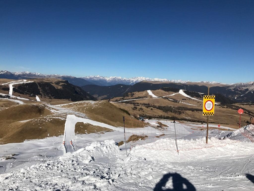 trasy narciarskie śnieg tylko na trasach
