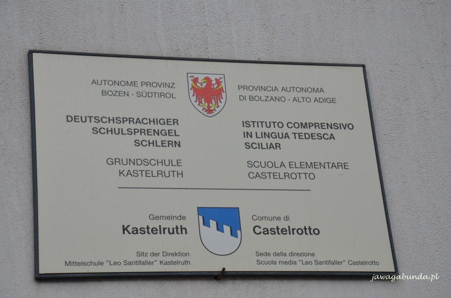 tablica informacyjna na szkole