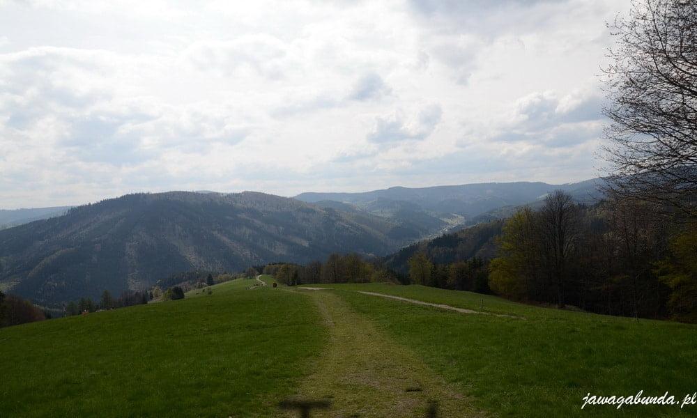 widoki w beskidach na hale i góry