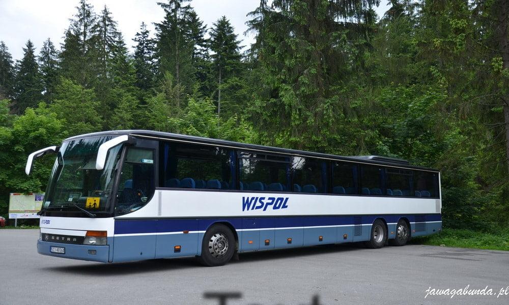 autobus biało niebieski