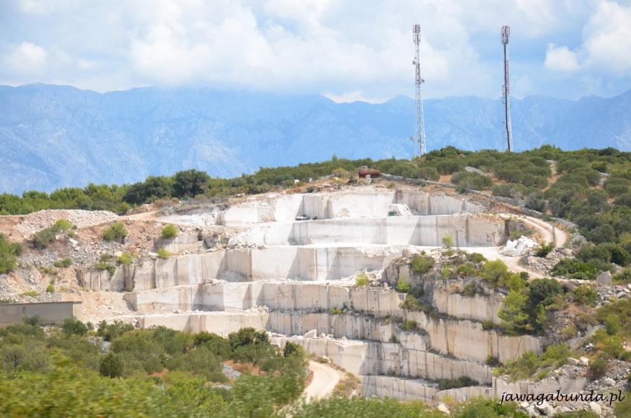 kamieniołom marmuru w Chorwacji