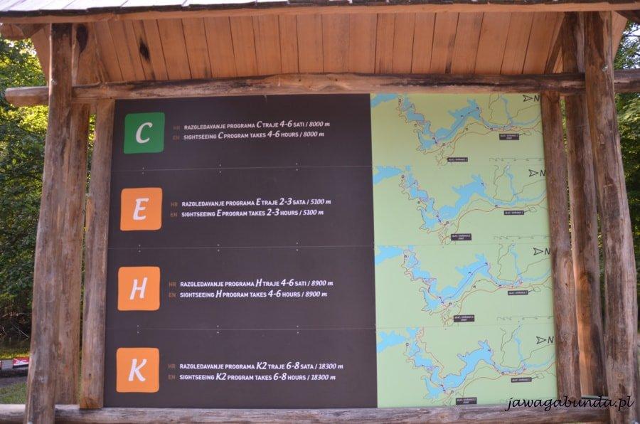 Proponowane trasy zwiedzania na tablicy