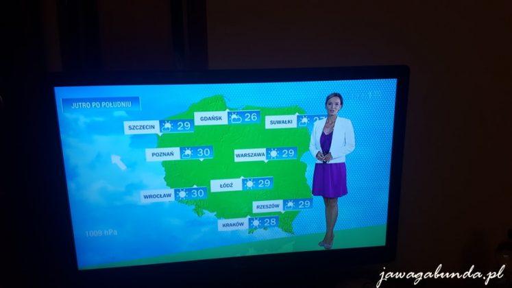 kobieta zapowiadając pogodę