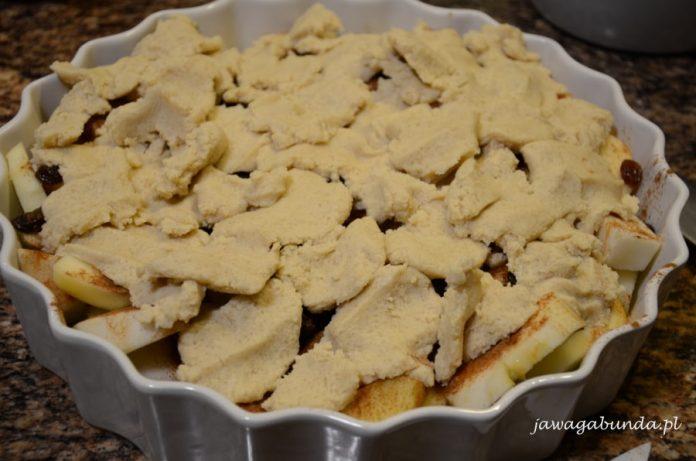 jabłka pieczone pod kruszonką