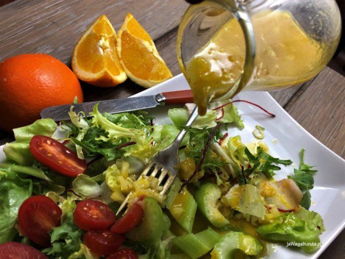 sos do sałaty pomarańczowy