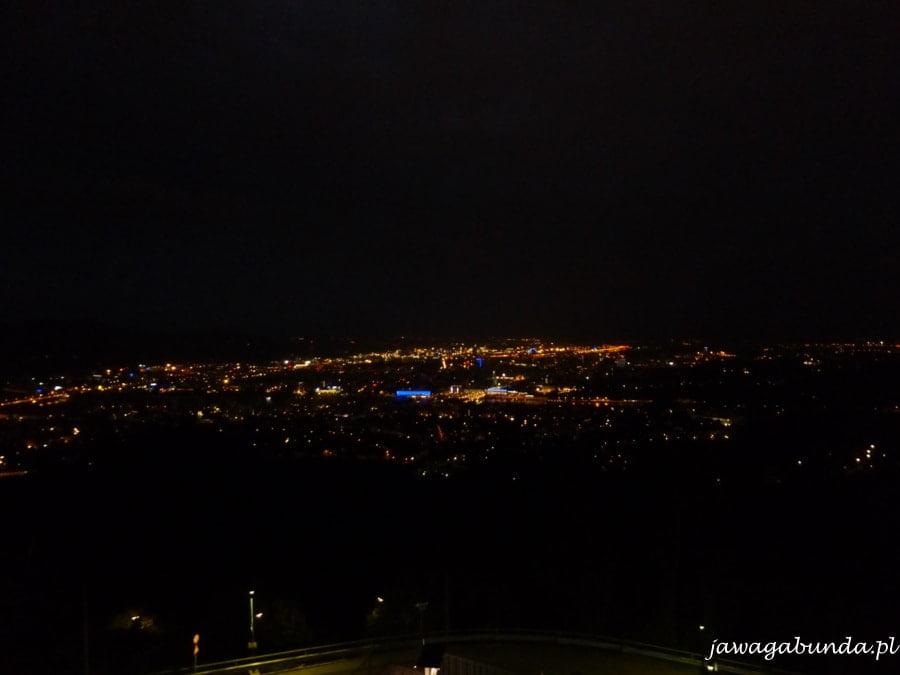 dużo świateł - miasto noca