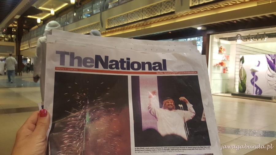 gazeta w języku angielskim