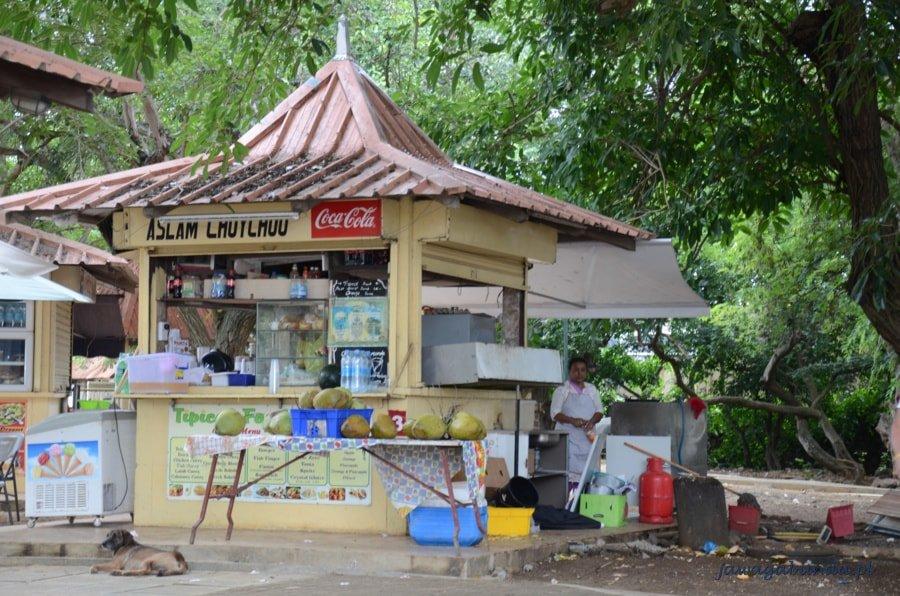 kolorowy kiosk spożywczy