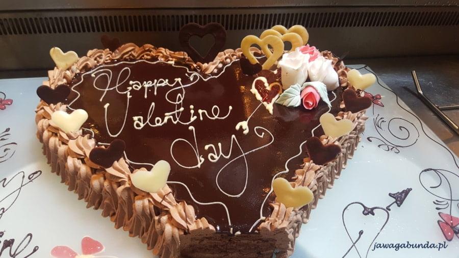 tort z angielskim napisem świety walenty
