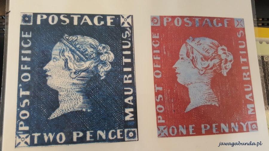 2 znaczki penny