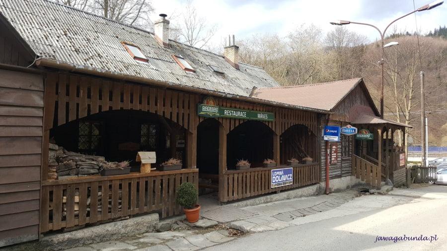 drewniany budynek restauracji