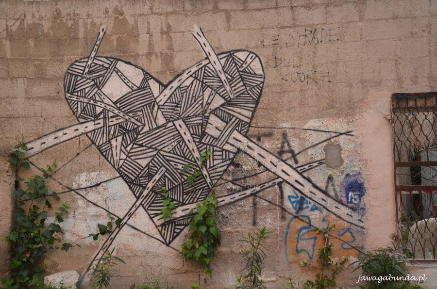 serce namalowane na ścianie