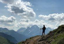 kobieta w górach