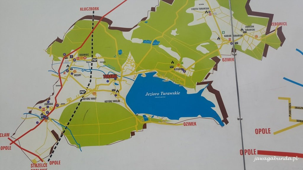 mapa jeziora turawskiego