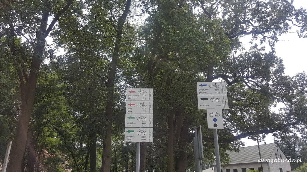 kierunkowskazy i oznaczenie trasy rowerowej