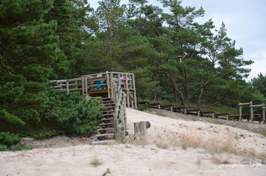 platforma na wydmie