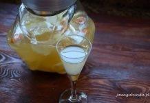 kieliszek o butelka z octem jabłkowym