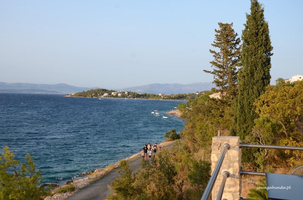 widok z tarasu na morze