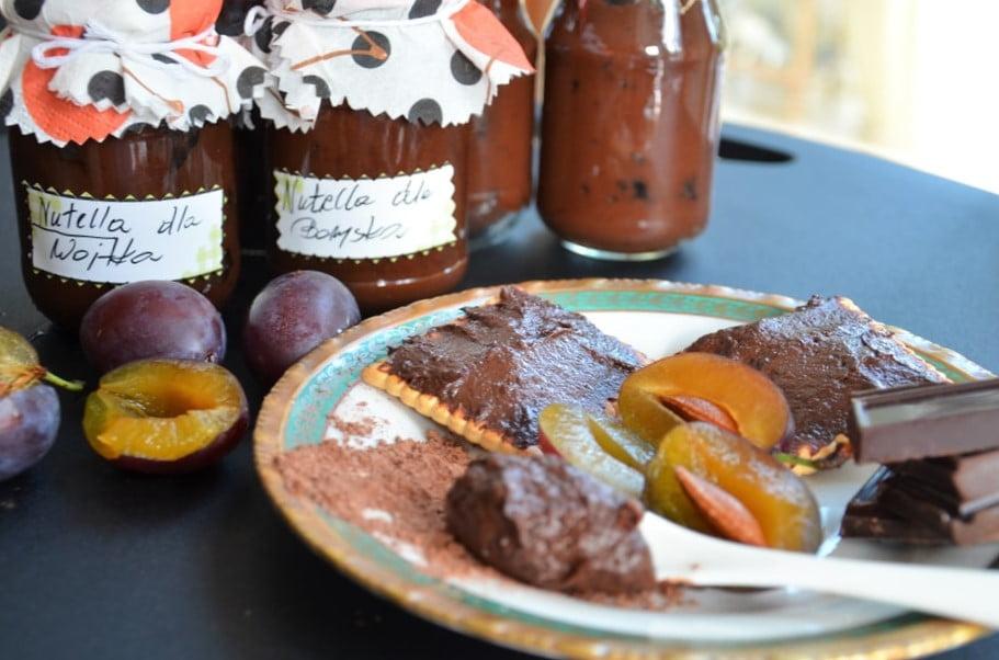 nutella ze śliwek i czekolady