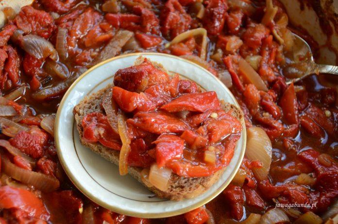 peperonata z papryk i cebuli