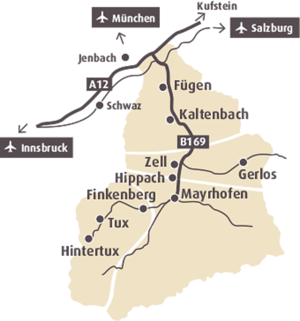 mapka z zaznaczeniem terenu narciarskiego
