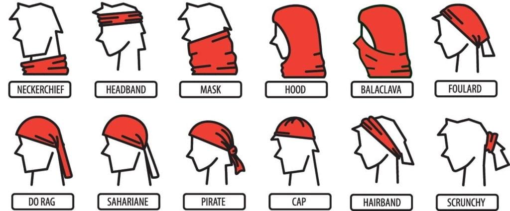 przykłady jak wiązać chustkę