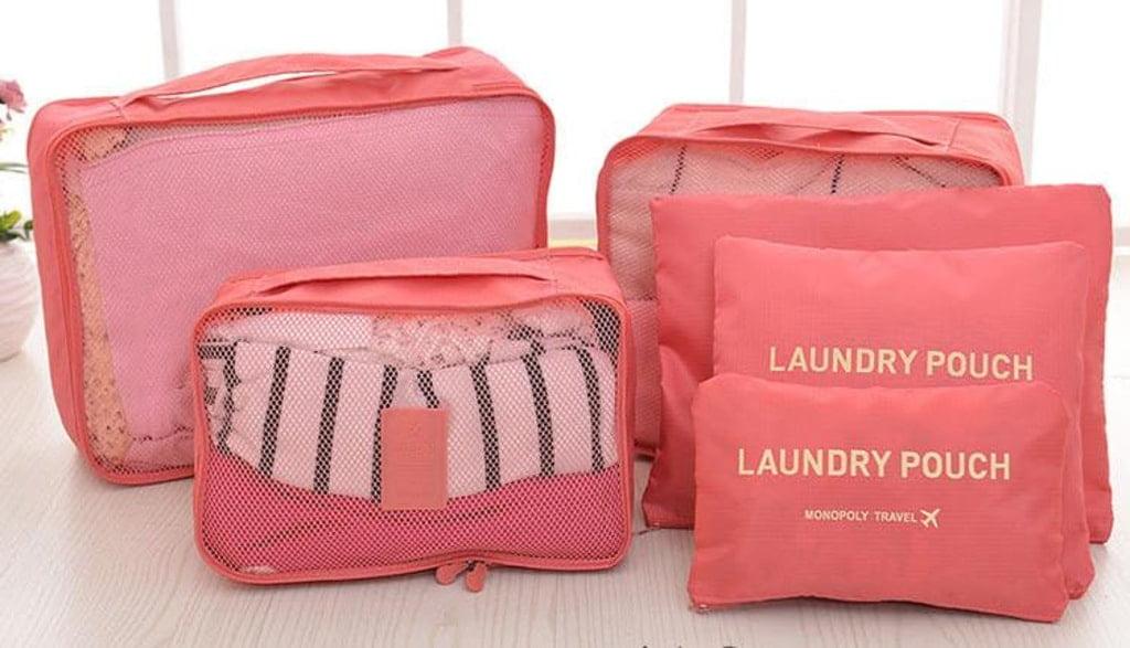 różowe organizery do walizek