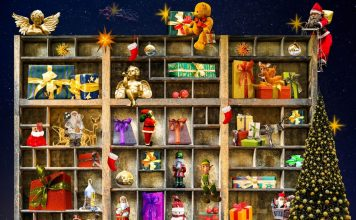 szafka z prezentami na Boże Narodzenie