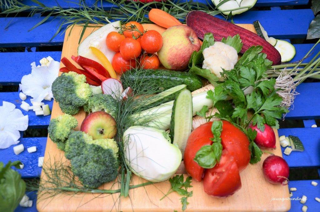 warzywa na paterze