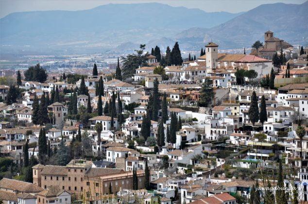 Granada miasto widziane z góry