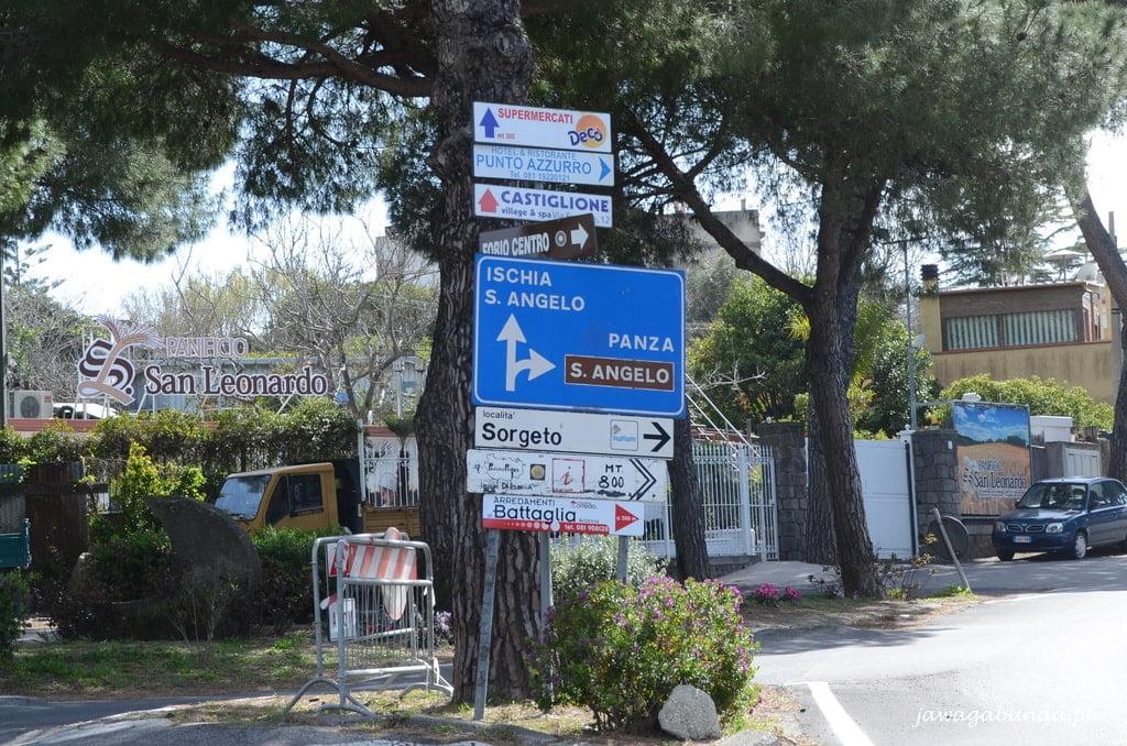 kierunkowskazy z włoskimi napisami