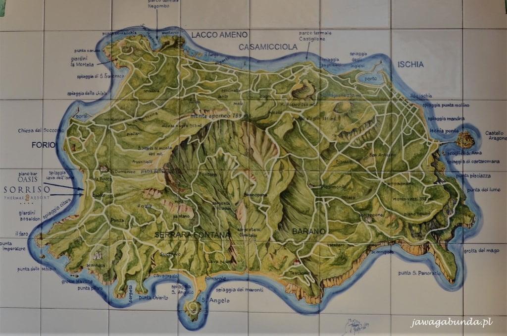 Ischia mapa