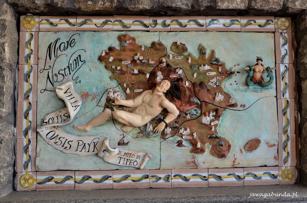 malowane sceny na kaflach