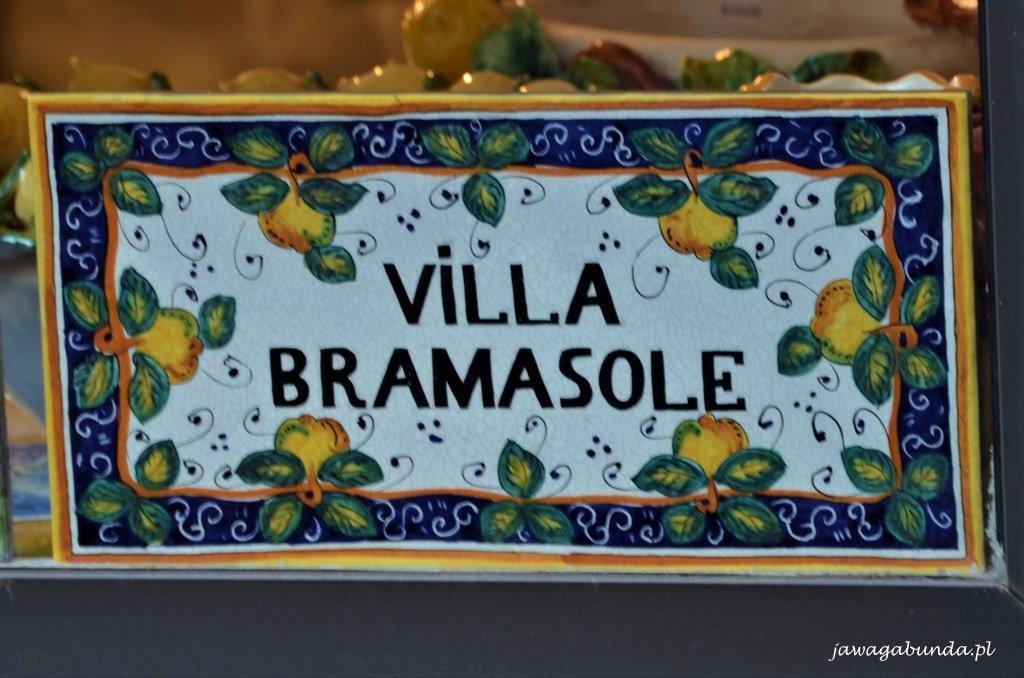 kafelka ceramiczna z napisem Bramasole