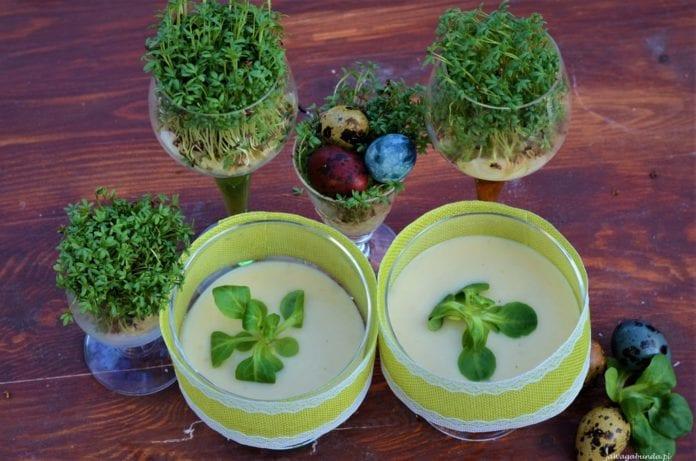 Przepis na wegetariańską zupę chrzanową.