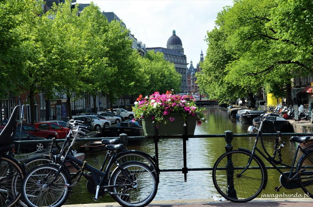 Amsterdam kanały i rowery