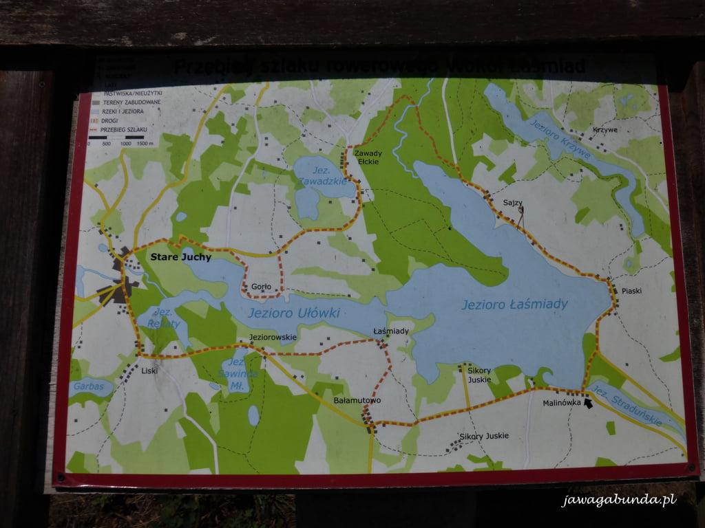 mapa Mazury Jeziora