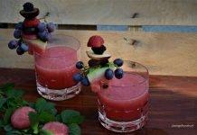szklanki z lemoniadą arbuzową bez cukru