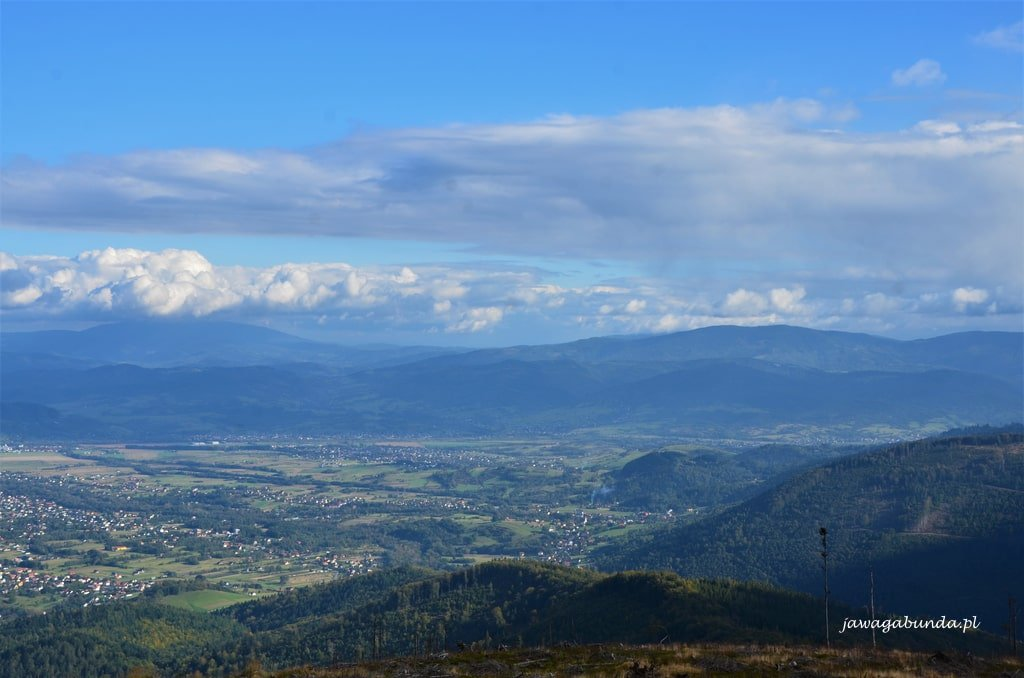 widok na Babią Górę i Pilsko ze szczytu Skrzyczne
