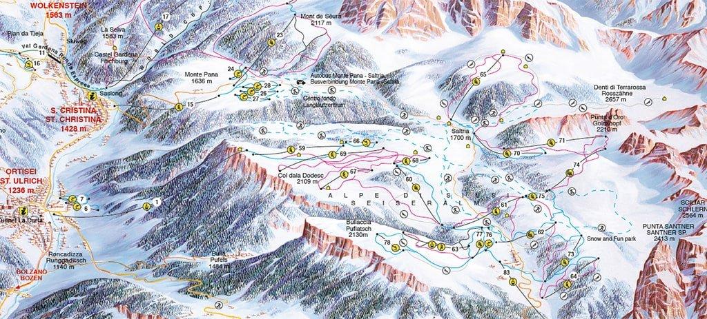 Alpe di Siusi mapa