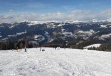piękne widoki ze stoku narciarskiego