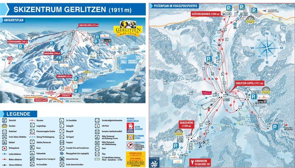 Gerlitzen mapa
