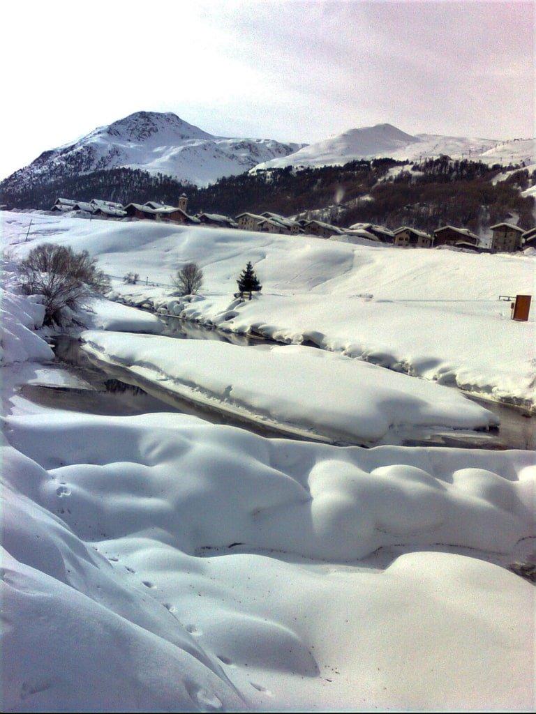 zasypane śniegiem