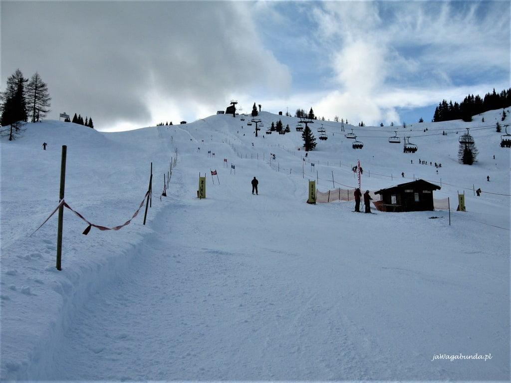 trasa narciarska Alpy
