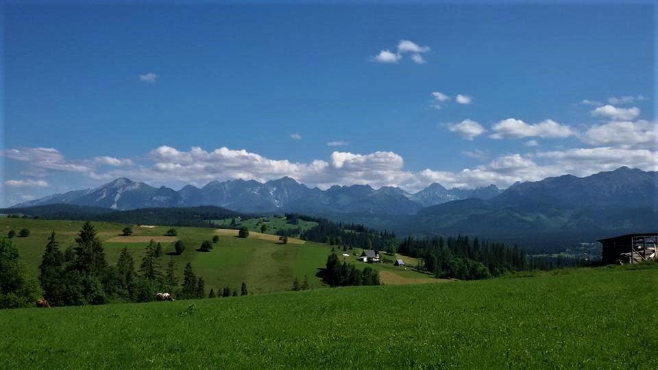 widok na Tatry z Gliczarowa