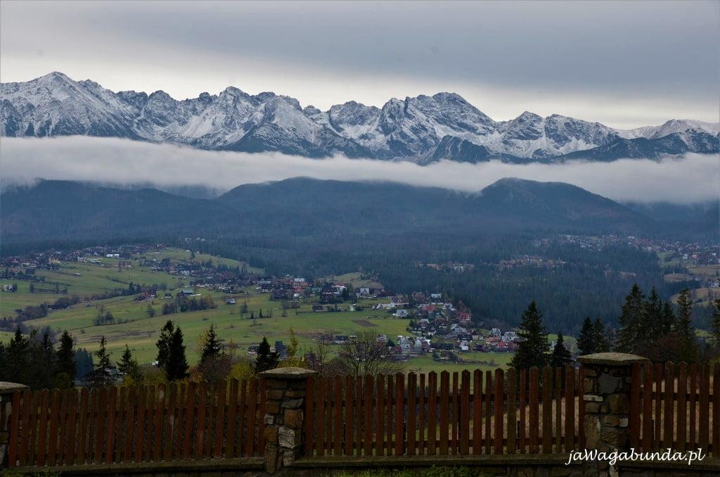 Tatry widoczne na horyzoncie