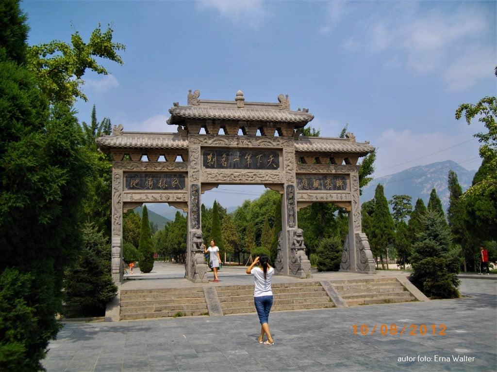Brama klasztoru shaolin