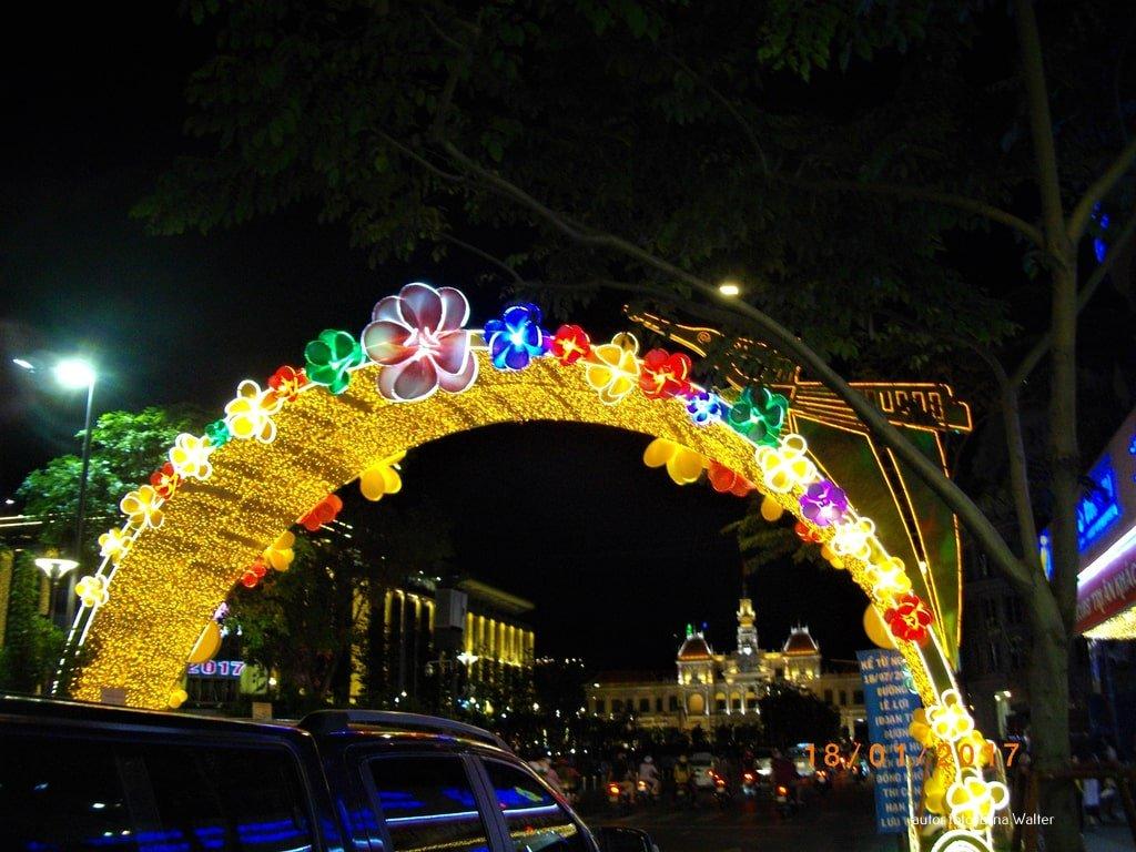 Wietnam nowy rok dekoracje