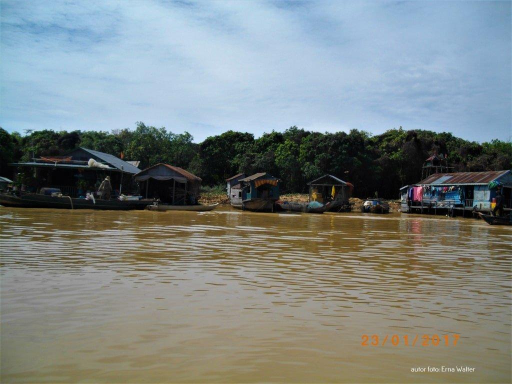 Kambodża pływające jeziora